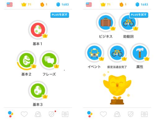 Duolingo ステージ