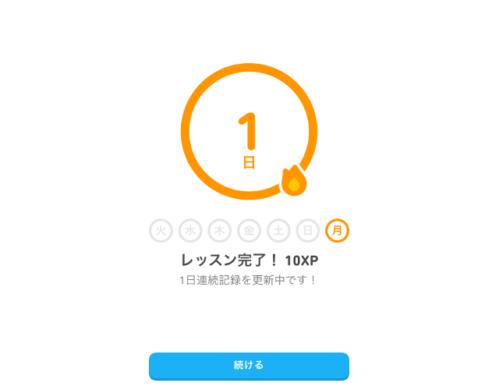 Duolingo 目標達成